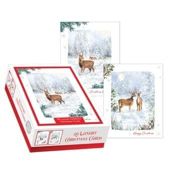 Pack of 20 Christmas cards - Deer