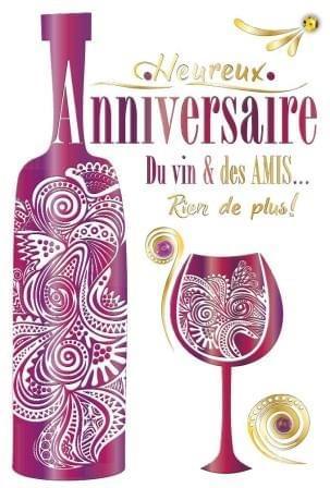 Du Vin & Des Amis - Mauve / Wine & Friends - Purple