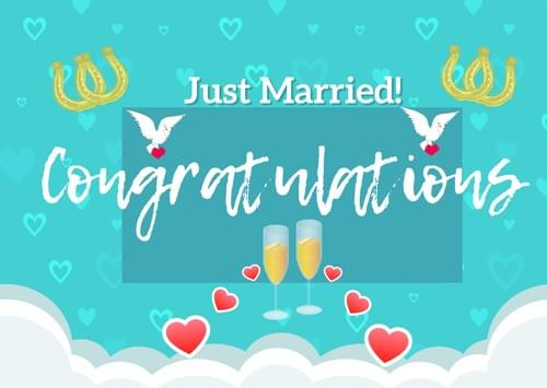 Just Married! Congratulations