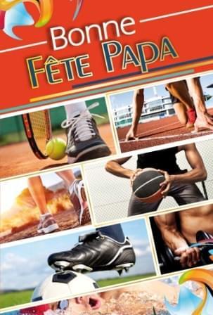 Bonne Fete Papa Sport - Rouge