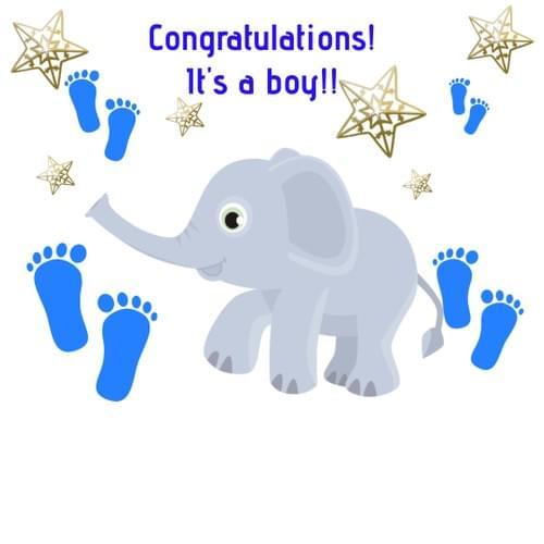 Congratulations! It's a boy!