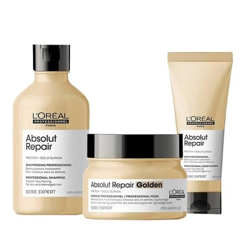 L'Oréal Professionnel Absolut Repair at Home Experts for Damaged Hair Bundle