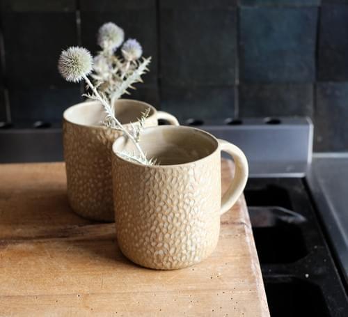 Mug motif 'grains de riz'