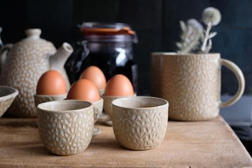 Tasse taille espresso 'grains de riz'