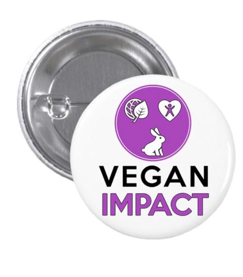 Badge Vegan Impact – Blanc