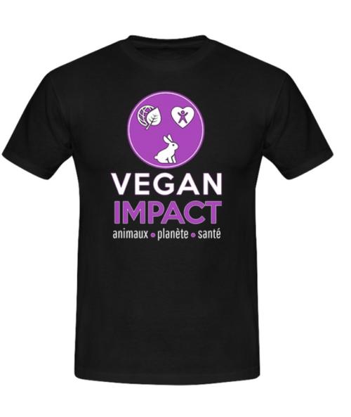 T-shirts Vegan Impact (coupe droite)