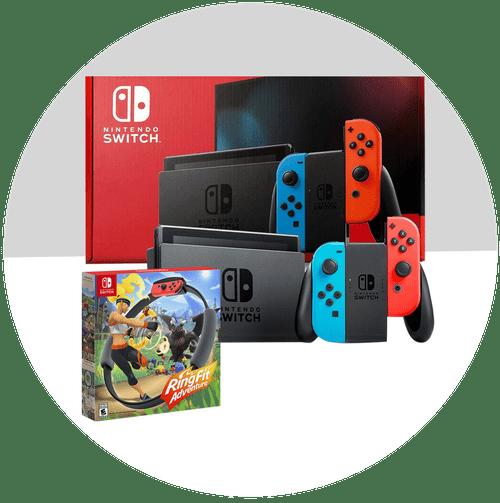 Nintendo Switch + Ring Fit Adventure Set (Rental Fee $1,820 - $2,625)