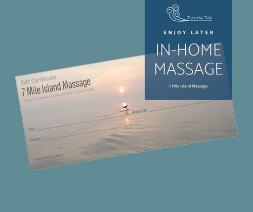 VALUE $135: 7 Mile Island Massage Gift Certificate Benefitting Marine Mammal Stranding Center