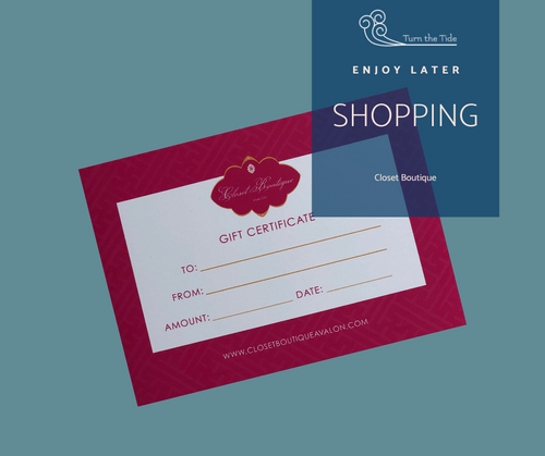 VALUE $125: Closet Boutique Gift Certificate