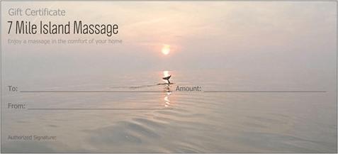 7 Mile Island Massage Gift Certificate