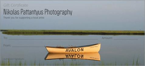 Nikolas Pattantyus Photography Gift Certificate