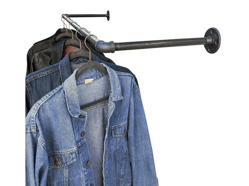 Industrial Pipe Wall/ Ceiling Mount Garment Rack
