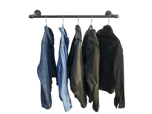 Industrial Pipe Wall/ Ceiling Mount Garment Rack