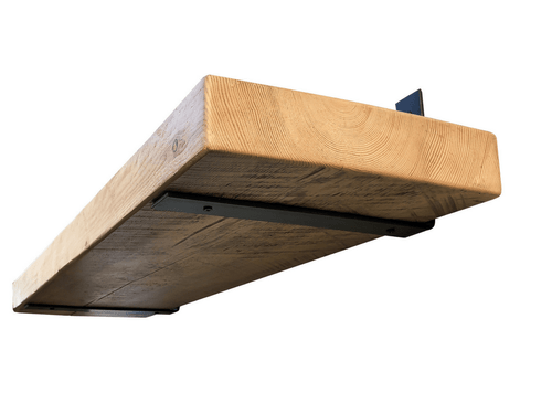 Industrial Steel Floating Shelf L/J Bracket - 2 Pack - No Lip