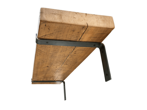 Industrial Steel Floating Shelf L Bracket With Lip - 2 Pack