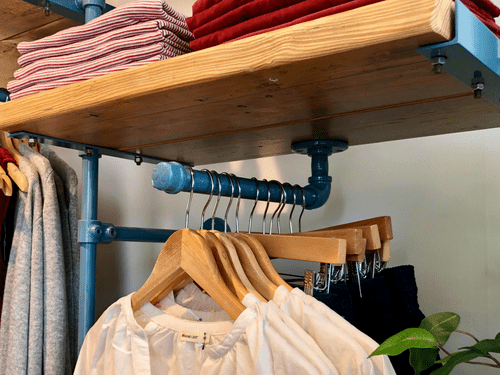 Industrial Face Out Wall Mount Garment Rack