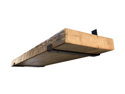 Industrial Steel Floating Shelf J Bracket With Lip - 2 Pack