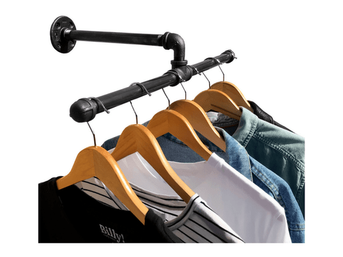 Industrial Wall Mount Clothing/ Garmet Rack