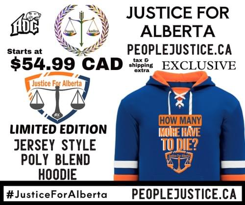 ADC- Justice for Alberta (Jersey Style Hoodie)