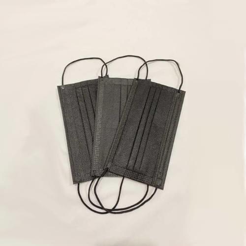 Masque jetable NOIR - Boite de 50 masques