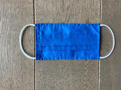 Masque coton très léger, ultra-respirant - Bleu électrique