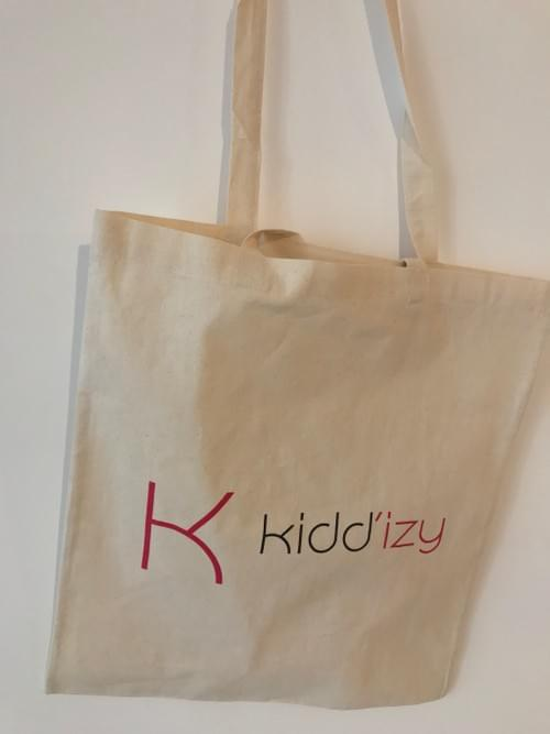 Tote Bag Kidd'izy en coton naturel bio