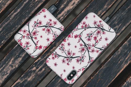 Blurby Cherry Blossom Fashion Powerbank 10000mAH