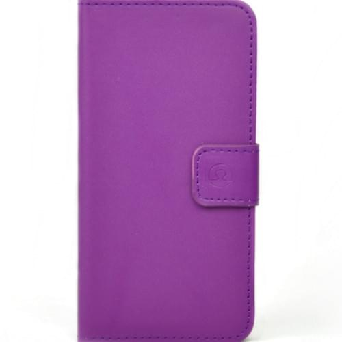 Blurby Purple Leather Flip Wallet 2cc + Cash