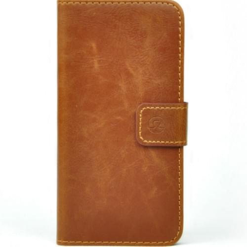 Blurby Cognac Brown Leather Flip Wallet 2cc + Cash