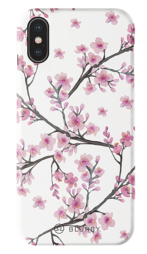 Blurby Paradise Cherry Blossom Silk Case