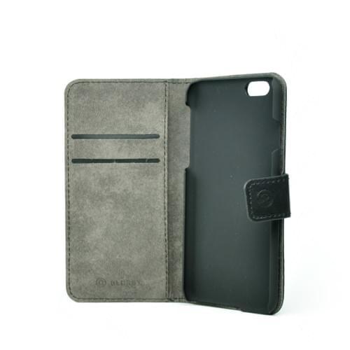 Blurby Black Leather Flip Wallet 2cc + Cash