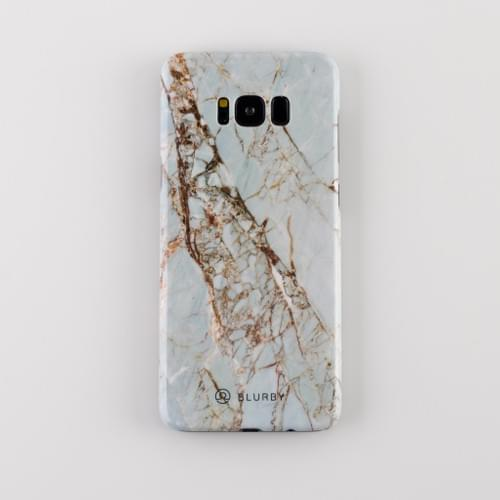 Blurby White Gold Marble Glossy