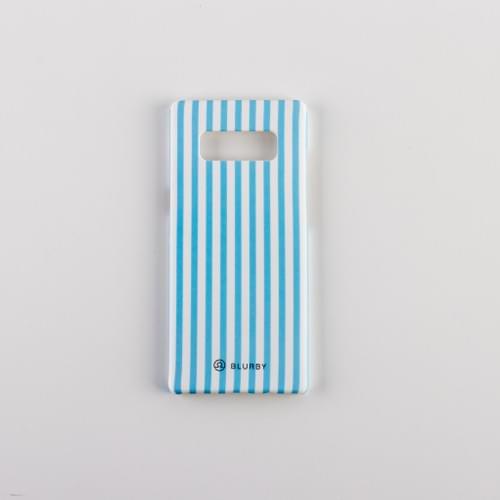 Blurby Paradise Blue Stripes Matte Silk