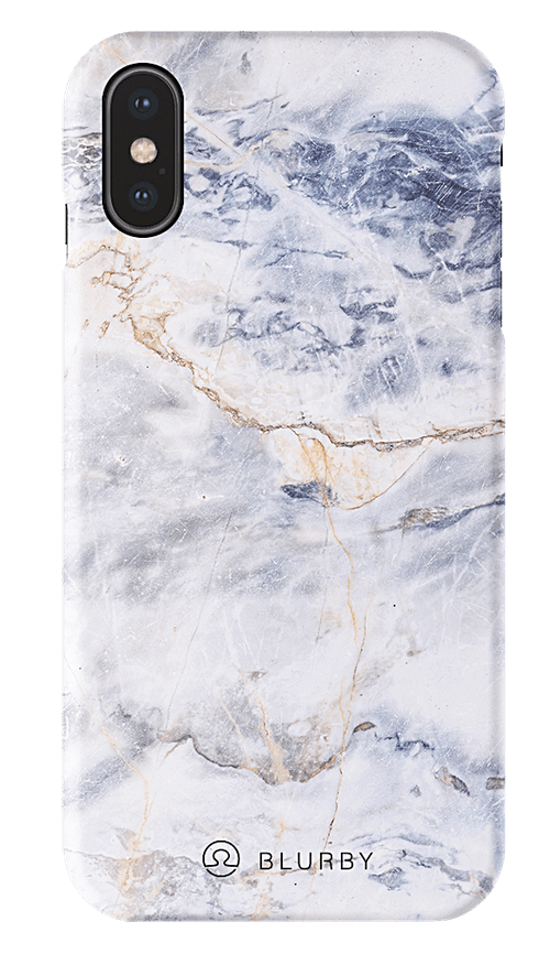 Blurby Matte Ocean White Marble Fashion Case