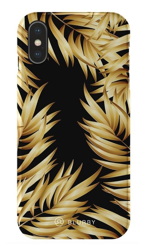 Blurby Paradise Gold Leaf Glossy