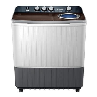Lavadora semiautomática Mabe LMDX6124PBABO  16 kg