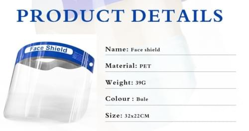 Face Shields (Minimum Order: 50,000)