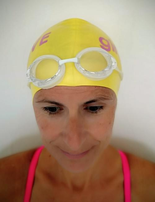 girls ALIVE swim cap