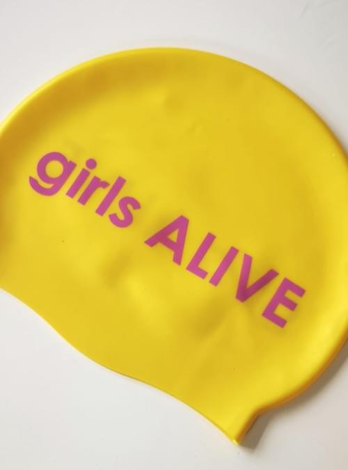 girls ALIVE swim cap