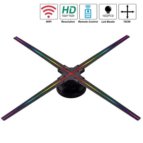 F-Z4  wifi 70cm 3D Holographic Fan for advertising with  1024*1024pixel
