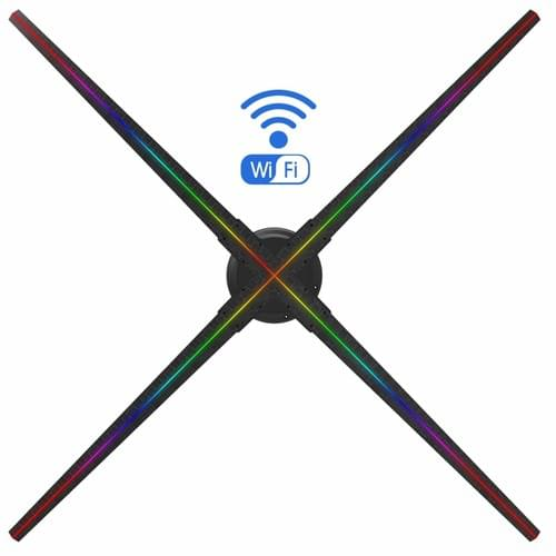 F-Z5 WiFi 100cm 3D Holographic LED Fan for advertising 1408*1408pixel