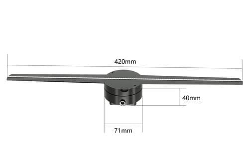 fursol F-Z1 42cm 3D LED advertising hologram display fan,  512*512pixel, free shipping