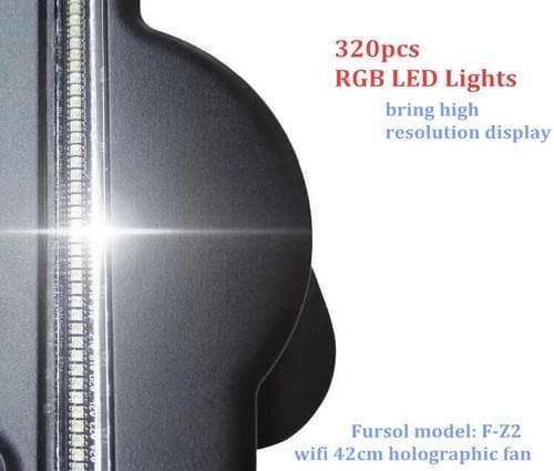 F-Z2 43cm WiFi 3D Hologram Advertising Display LED Fan 512*512 pixel