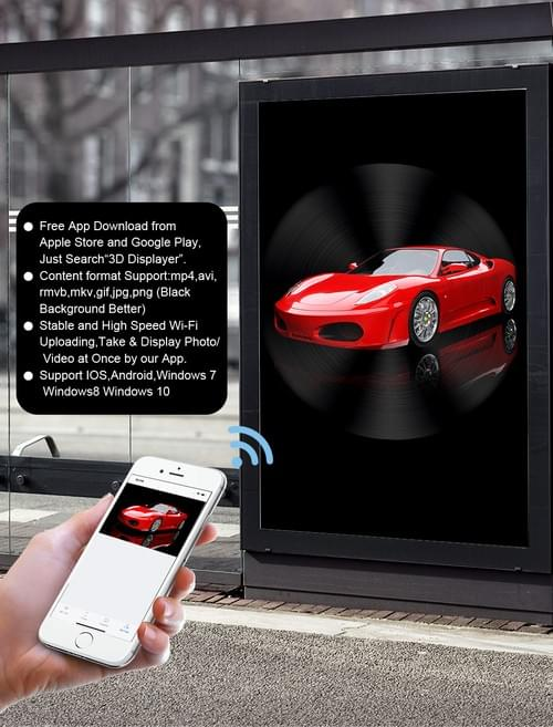 F-Z5 100cm 3d holographic display,1024*1024 pixel,  wifi, cloud and bluetooth,  free shipping