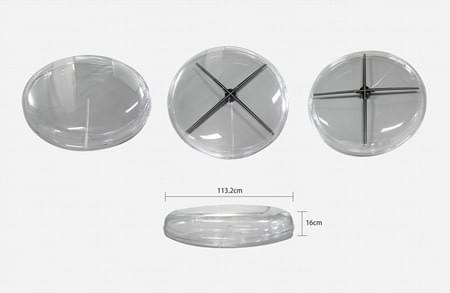 free shipping F-H4  Round protective cover for F-Z5 100cm holographic fan