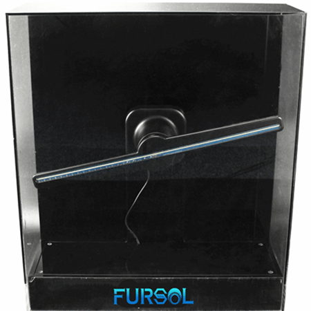 F-H2 Square transparent safety cover for 42CM 3D holographic LED fan display