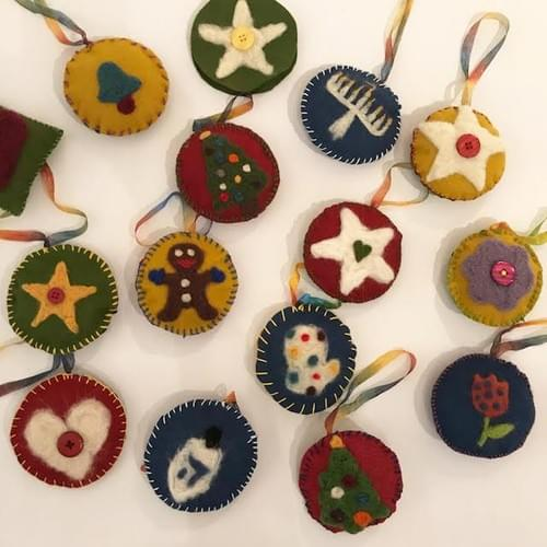 Needle Felted Holiday Ornaments ONLINE - Nov. 6
