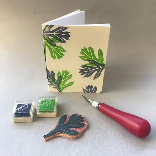 Block Printing on Fabric + Paper - Online June 12