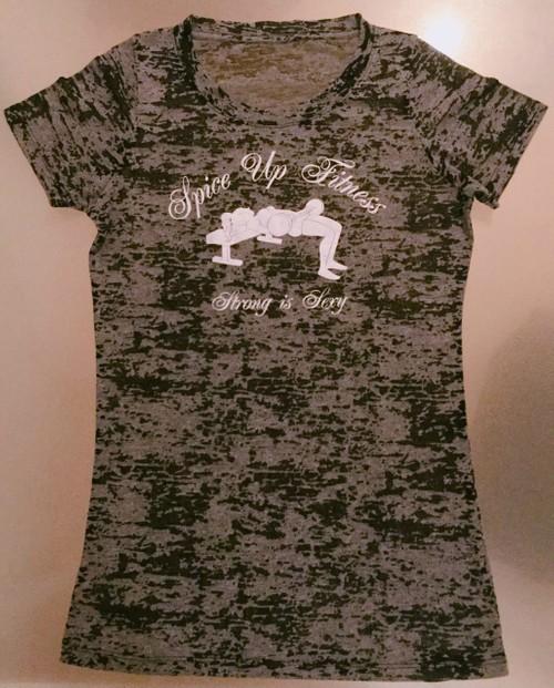 ヒップスラストTシャツ(黒地・白ロゴ)