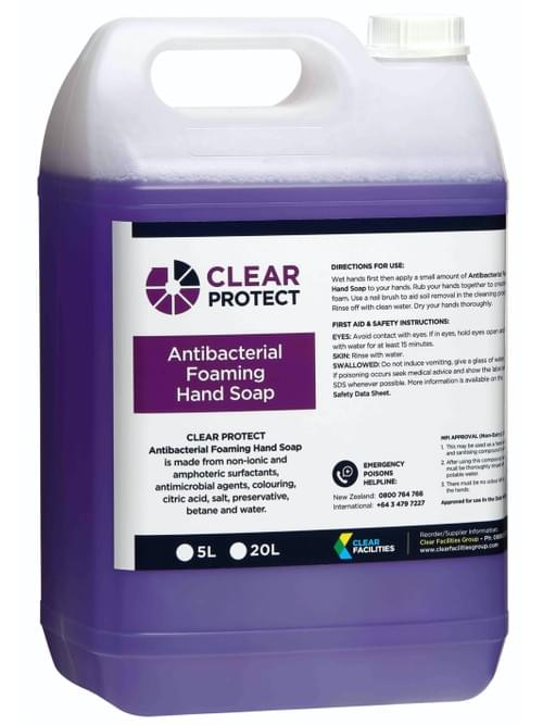 Clear Protect Antibacterial Foaming Hand Soap (5L)